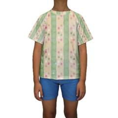 Seamless Colorful Dotted Pattern Kid s Short Sleeve Swimwear