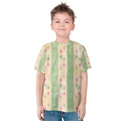 Seamless Colorful Dotted Pattern Kid s Cotton Tee