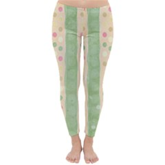 Seamless Colorful Dotted Pattern Winter Leggings