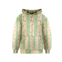 Seamless Colorful Dotted Pattern Kids  Zipper Hoodie