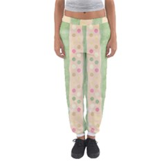 Seamless Colorful Dotted Pattern Women s Jogger Sweatpants