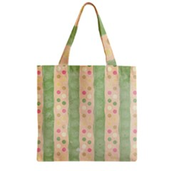 Seamless Colorful Dotted Pattern Zipper Grocery Tote Bag