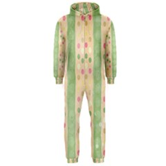 Seamless Colorful Dotted Pattern Hooded Jumpsuit (men)