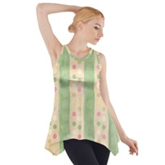 Seamless Colorful Dotted Pattern Side Drop Tank Tunic