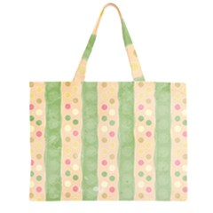 Seamless Colorful Dotted Pattern Large Tote Bag