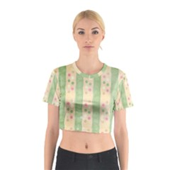 Seamless Colorful Dotted Pattern Cotton Crop Top