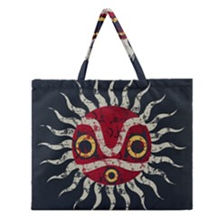 Mononoke Mask Zipper Large Tote Bag