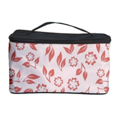 Red Seamless Floral Pattern Cosmetic Storage Cases