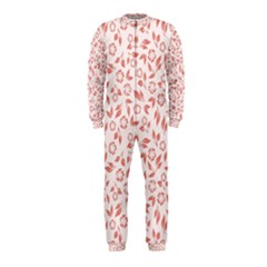 Red Seamless Floral Pattern Onepiece Jumpsuit (kids)