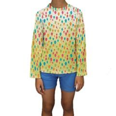 Colorful Balloons Backlground Kid s Long Sleeve Swimwear