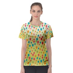 Colorful Balloons Backlground Women s Sport Mesh Tee