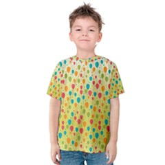 Colorful Balloons Backlground Kid s Cotton Tee