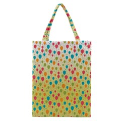 Colorful Balloons Backlground Classic Tote Bag