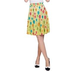 Colorful Balloons Backlground A-Line Skirt