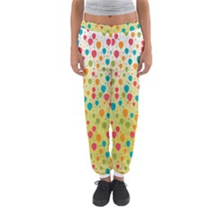 Colorful Balloons Backlground Women s Jogger Sweatpants