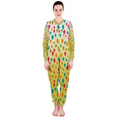 Colorful Balloons Backlground OnePiece Jumpsuit (Ladies)