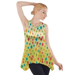 Colorful Balloons Backlground Side Drop Tank Tunic