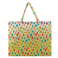 Colorful Balloons Backlground Zipper Large Tote Bag