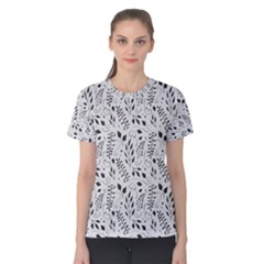 Hand Painted Floral Pattern Women s Cotton Tee