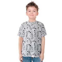 Hand Painted Floral Pattern Kid s Cotton Tee