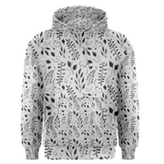 Hand Painted Floral Pattern Men s Pullover Hoodie