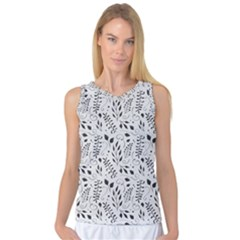 Hand Painted Floral Pattern Women s Basketball Tank Top