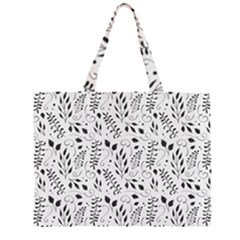 Hand Painted Floral Pattern Large Tote Bag