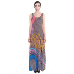 Rainbow Passion Full Print Maxi Dress