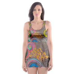 Rainbow Passion Skater Dress Swimsuit