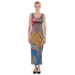 Rainbow Passion Fitted Maxi Dress