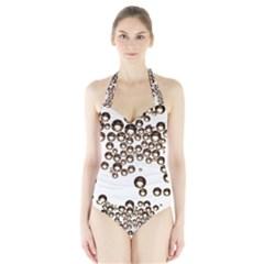 Bubbles! Women s Halter One Piece Swimsuit