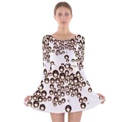 Bubbles! Long Sleeve Velvet Skater Dress