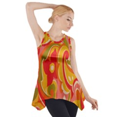 60s Flower Power  Side Drop Tank Tunic