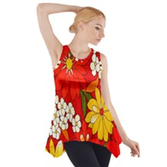 Flower Power Side Drop Tank Tunic