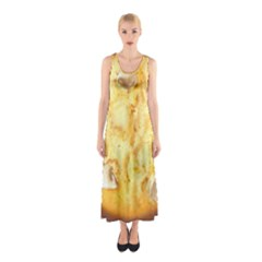 White Chocolate Chip Lemon Cookie Novelty Full Print Maxi Dress