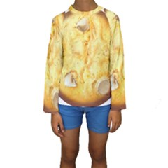 White Chocolate Chip Lemon Cookie Novelty Kid s Long Sleeve Swimwear
