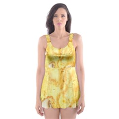 White Chocolate Chip Lemon Cookie Novelty Skater Dress Swimsuit