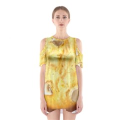 White Chocolate Chip Lemon Cookie Novelty Cutout Shoulder Dress