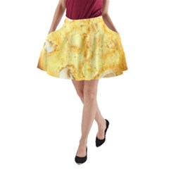 White Chocolate Chip Lemon Cookie Novelty A-Line Pocket Skirt