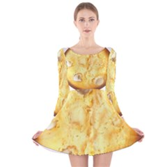 White Chocolate Chip Lemon Cookie Novelty Long Sleeve Velvet Skater Dress