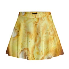 White Chocolate Chip Lemon Cookie Novelty Mini Flare Skirt