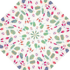 Hand Drawn Flowers Background Hook Handle Umbrellas (small)