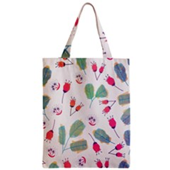 Hand Drawn Flowers Background Zipper Classic Tote Bag