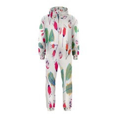 Hand Drawn Flowers Background Hooded Jumpsuit (kids)
