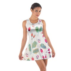 Hand Drawn Flowers Background Racerback Dresses