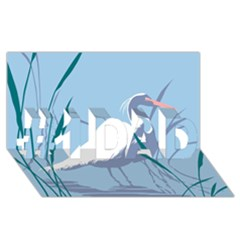 Egret #1 Dad 3d Greeting Card (8x4)