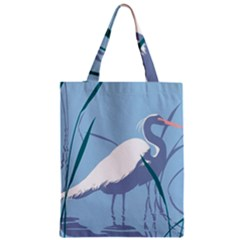 Egret Zipper Classic Tote Bag