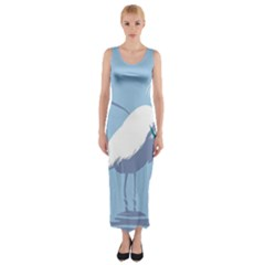 Egret Fitted Maxi Dress