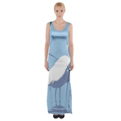 Egret Maxi Thigh Split Dress