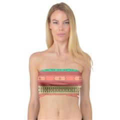 Hand Drawn Ethnic Shapes Pattern Bandeau Top